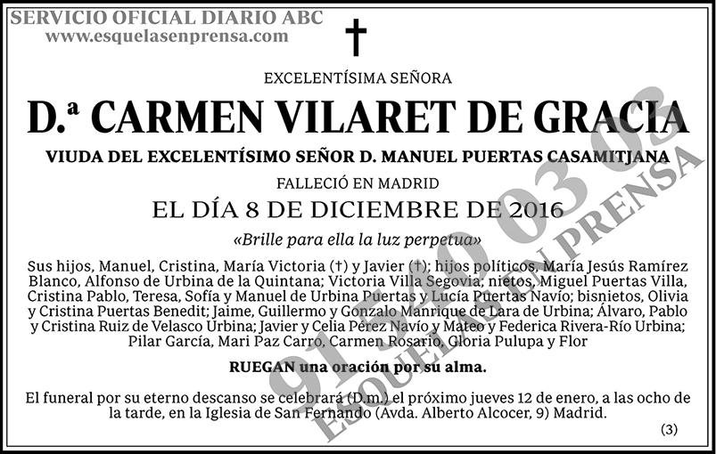 Carmen Vilaret de Gracia